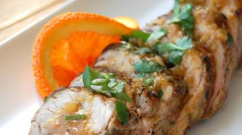 Cilantro rubbed Pork Tenderloin with Fresh Citrus Sauce