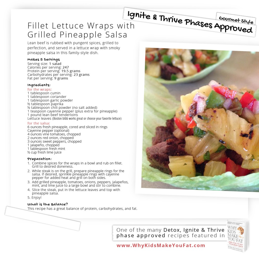 Fillet Lettuce Wraps with Grilled Pineapple Salsa