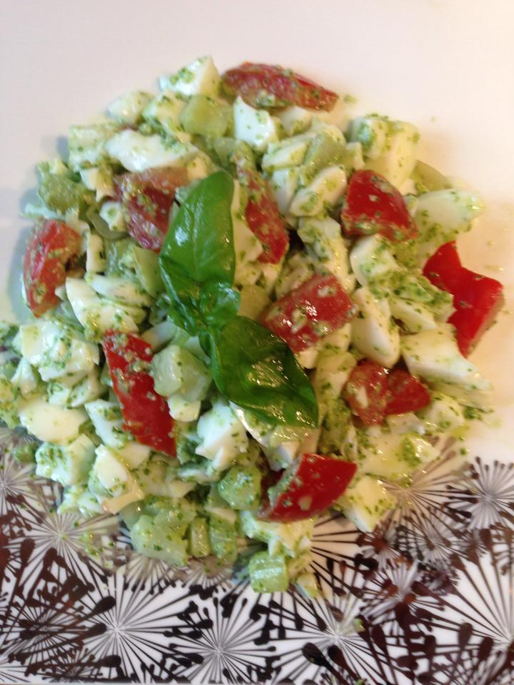 Egg White Pesto Salad by Cassandra Ballon Christie